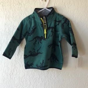 CARTER'S | Dinosaur Green 1/4 Zip Fleece NWT